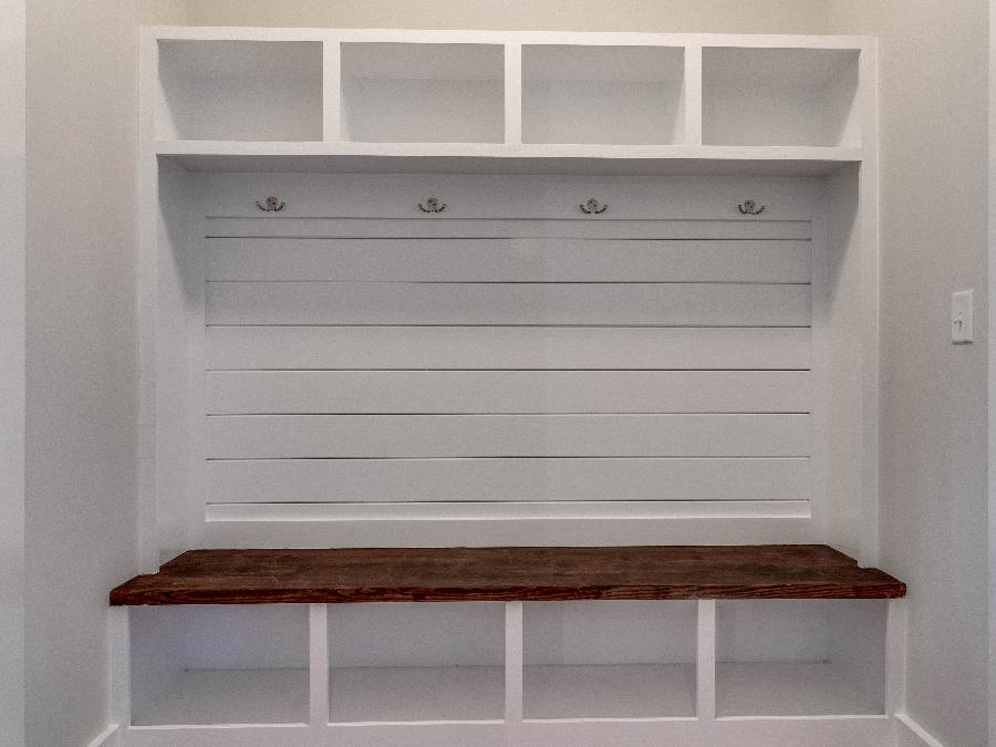 The Farmhouse Lee - Cubbies Options with Shiplap